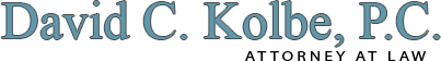 David C. Kolbe P.C. Attorney at Law logo